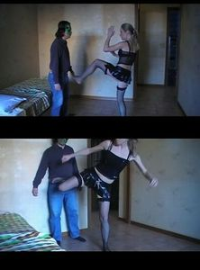 45356 - Trampled and Beaten with Black Stockings