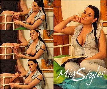 42953 - Mia Cum On My Tits Ball Stretch Handjob