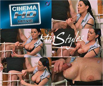 42954 - Mia Cum On My Tits Ball Stretch Handjob