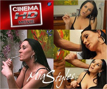 43123 - Mia Styles Smoking Denial Handjob