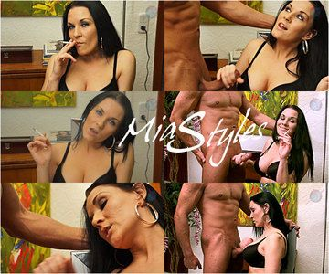 43126 - Mia Styles Smoking Denial Handjob