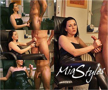 44467 - Mia Styles Computer Girl Minimized Orgasm Handjob