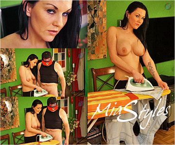 44820 - Mias Brutal Bare Breast Cum Ironing