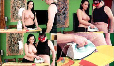 53016 - Mias Topless cock pressing Handjob