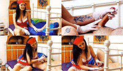 57787 - Nurse Mia Patient Glove Handjob