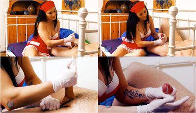 57789 - Nurse Mia Patient Glove Handjob