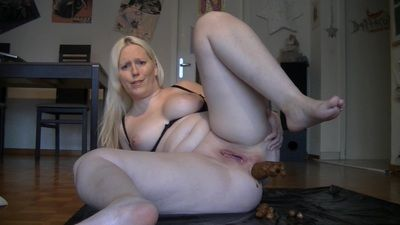 57338 - Crass Shit sausage and Dildo deep in Asshole