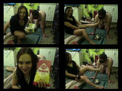 46888 - A Whole BDSM Session With Mistress Melissa - Part 8. Food and Foot Humiliation