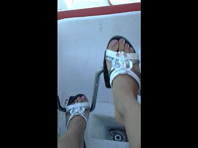 44576 - Mother's Feet In The Pedalo Boat Part 2