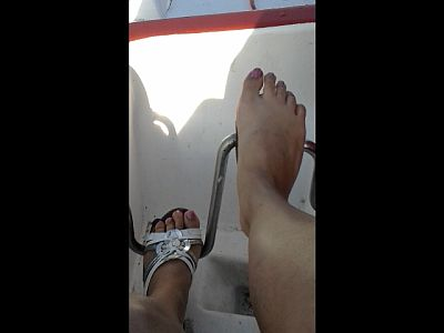 44577 - Mother's Feet In The Pedalo Boat Full Video