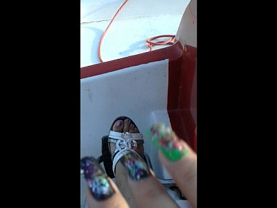 44654 - Mother's Feet In The Pedalo Boat Part 1