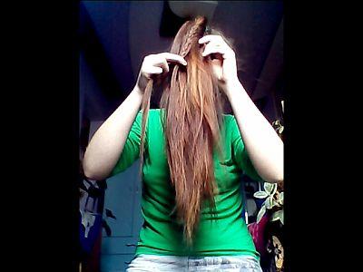 44665 - Braiding & Brushing My Hair Part 2