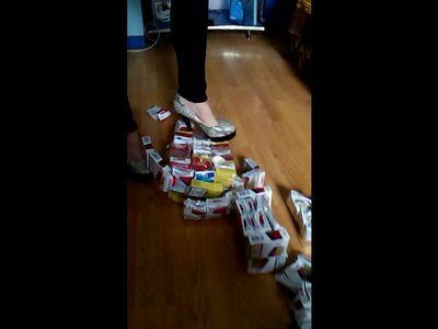 54281 - Cigarette Packs Crushing