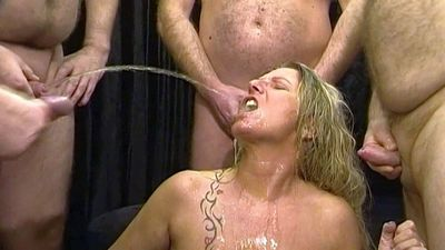48607 - Pervert piss and cum AO-Gangbang!