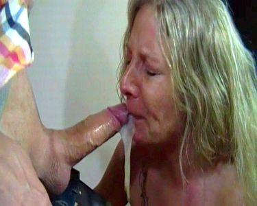 53023 - Extreme puke at brutal public deep throat in a billardcafe!