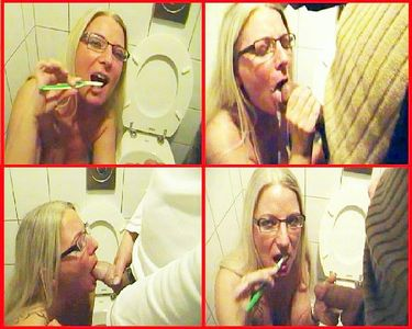 54205 - Kink: Public in men's room, brushing teeth with sperm!
