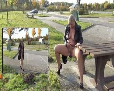 58058 - Naked under the jacket, Public Pissed!