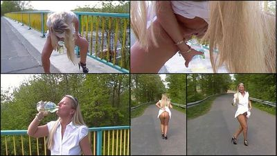59146 - Drunk Outdoor and Public my own piss!