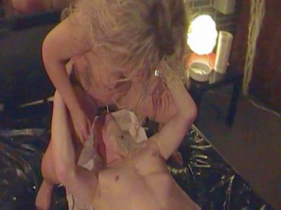 64017 - Next slave, pissing in his mouth!