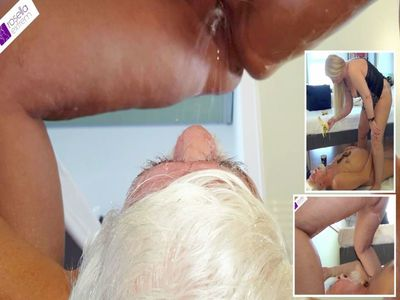 67122 - Fat shit sausage shitting in the Senior Slave mouth! Part 2