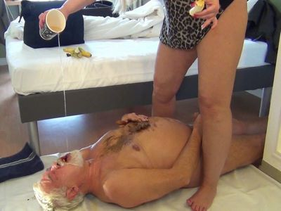 67123 - Fat shit sausage shitting in the Senior Slave mouth! Part 3