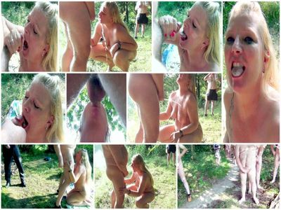 69093 - Bitch, of 30 guys dirty used, Public! Part 3