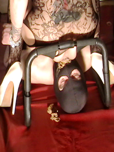 Mistress punishes slave using her scat