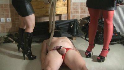 82974 - Goddess Andreea and Goddess Claudette humiliating slave