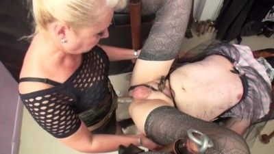 96123 - Goddess Andreea and Nicolle use sissy whore part 2