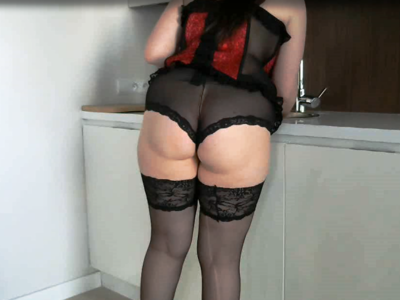 49852 - KITCHEN WORK IN SEXY OUTFIT :)