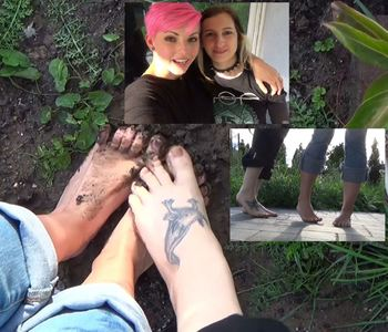 52391 - Four naked feet in the garden