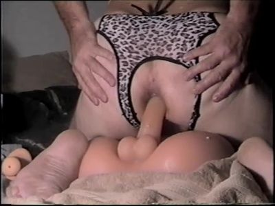 63864 - Butt Fucked by Dina in My New Crotchless Leopard Panties