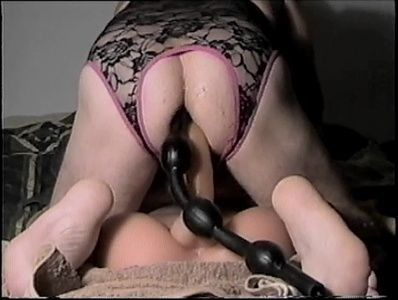 65764 - Dina Doll Cock and Black Beads Invade My Ass
