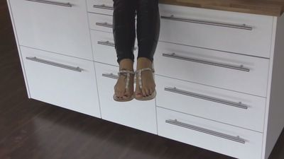 63806 - Lady Jasmine Black, a lady wearing one flat shoes