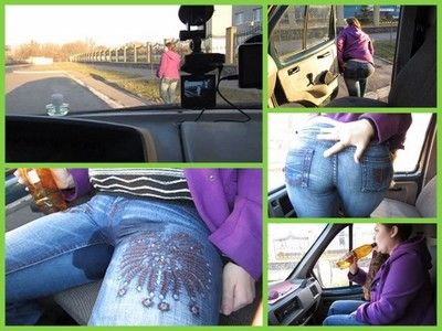 65772 - Car rode with pee in jeans