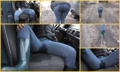 73435 - pee in jeans in the car