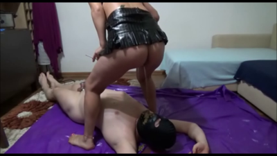 94157 - Mistress Victoria - Beating and feeding pot with shit  and cigarette