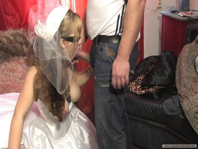 69301 - Horny bride sucks a big cock