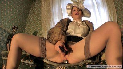 74374 - Satin Blouse Lady Posing Pervert Part 1