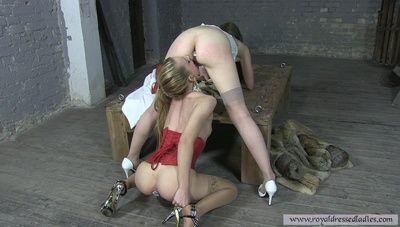78689 - Ass paddling lesbian butt plug slaves