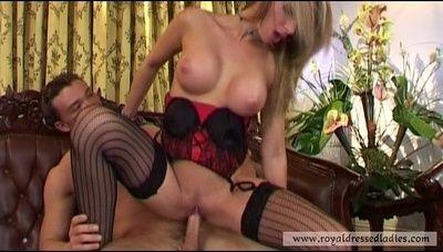 81707 - Stocking Lady fucked hard