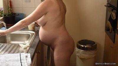 72669 - Abigail Toyne pregnant kitchen chores