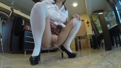 117269 - MILF in a School Uniform Pissing