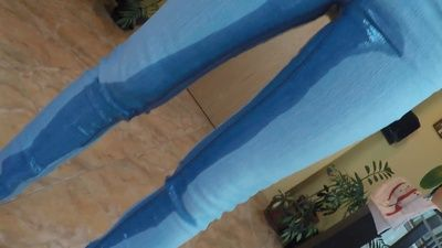 82891 - Pee Soaked Jeans and Hard Orgasm