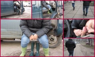 98697 - walk in rubber boots with urine