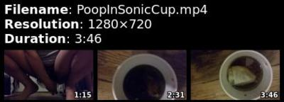 90645 - Poop in the cup 1st scat film