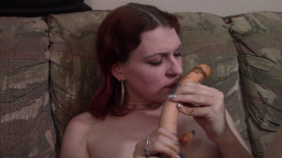 93888 - Licking a shitty dildo
