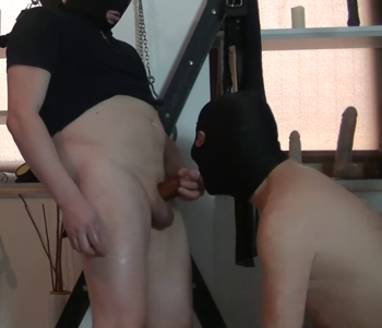 104391 - Goddess Andreea using her slaves in attic part 4