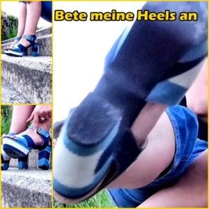 110049 - My delicate feet in horny heels
