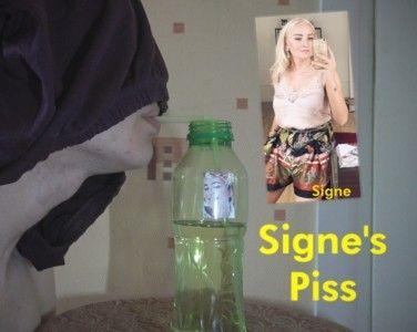 108851 - slave drinks full bottle of Signe's piss